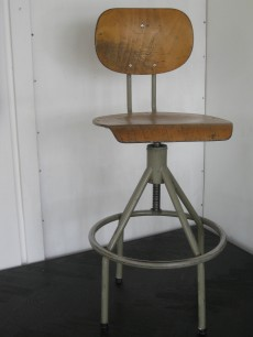 Industrial Belgian post office stools