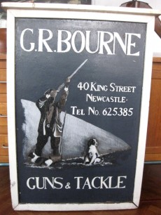 Vintage Sign Guns & Tackle
