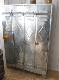 vintage steel locker