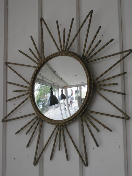 Unusual Mirror unusual 1950's snowflake mirror — pigeon vintage furniture