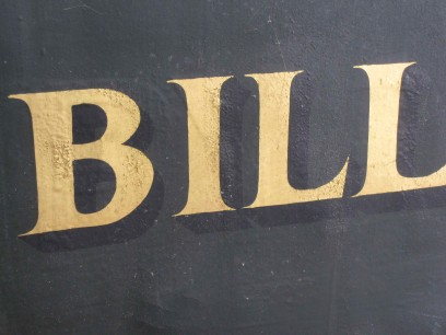 Vintage Billiard Room Sign