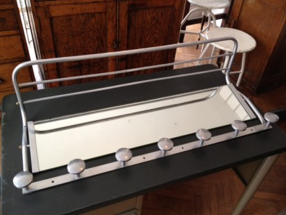 French Aluminium coat rack