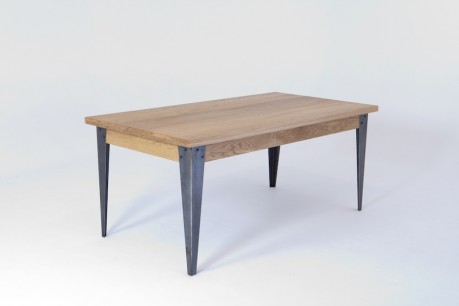 Solid oak canteen table