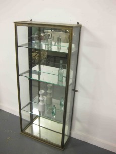 Brass French display cabinet