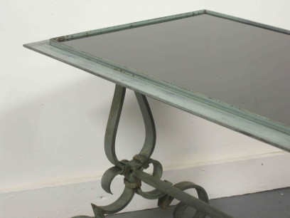 1940's wrought iron coffee table