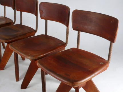 Bauhaus Industrial Chairs Pigeon Vintage Furniture